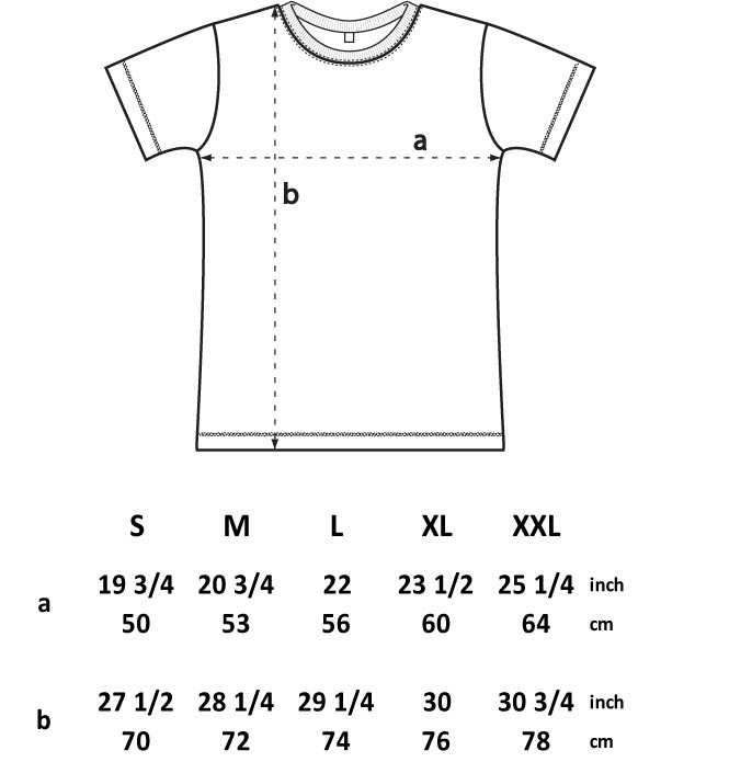 Use our t-shirt sizing line-up with detailed measurements and close up photos to find the best fit for your group.
