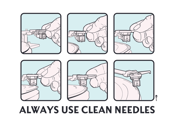 always-use-clean-needles-greeetings-card