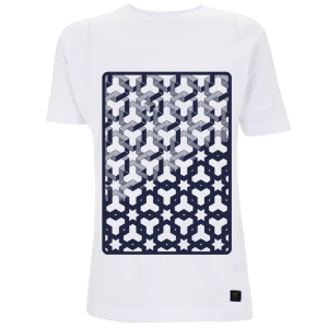 Hexagon Space Men's White T shirt