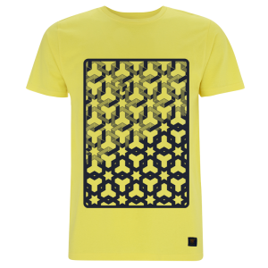 Hexagon Space Men's Yellow T shirt