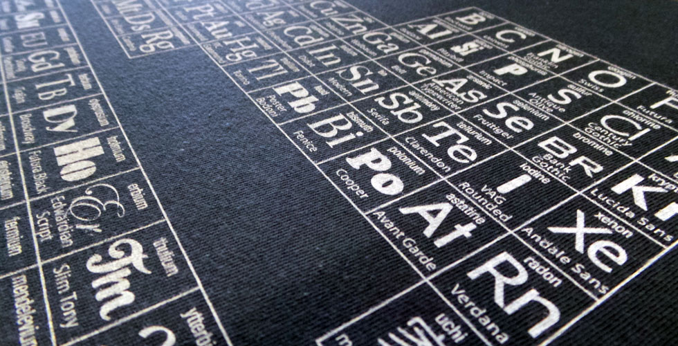 Periodic Table of Typefacesa