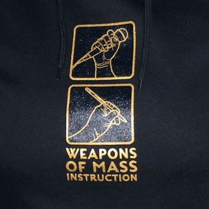 uchi hoody - Weapons of Mass Instruction - Gold on black