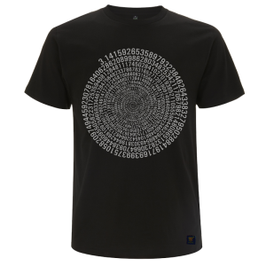 Mens T shirt - Pi - Black