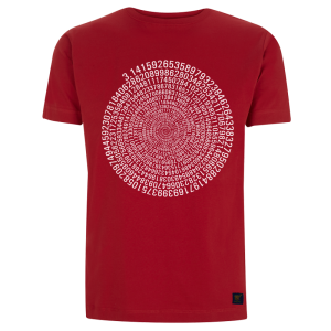 Mens T shirt - Pi - Red