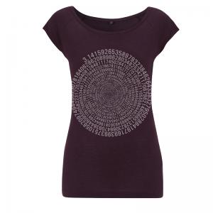Womens bamboo T shirt - Pi - Aubergine