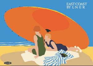 East Coast LNER Poster, Tom Purvis, 1925