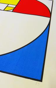 Golden Section screen print, uchi, 2015