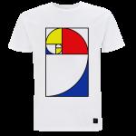 Mens T shirt - Golden section - White