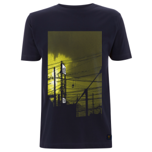 T shirt uchi Sunset - Dark blue