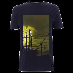 T shirt uchi Sunset - Dark blue