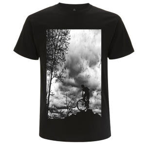 Mens T shirt - Mountain Top - Black