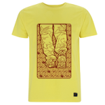 Mens T shirt - Love & Hate II - sunflower