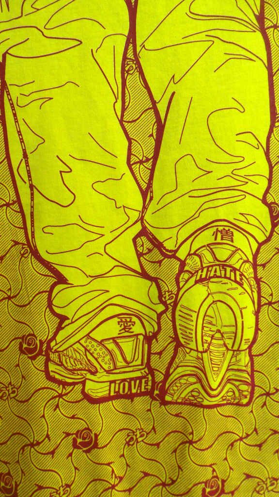 T shirt detail - Love and Hate II