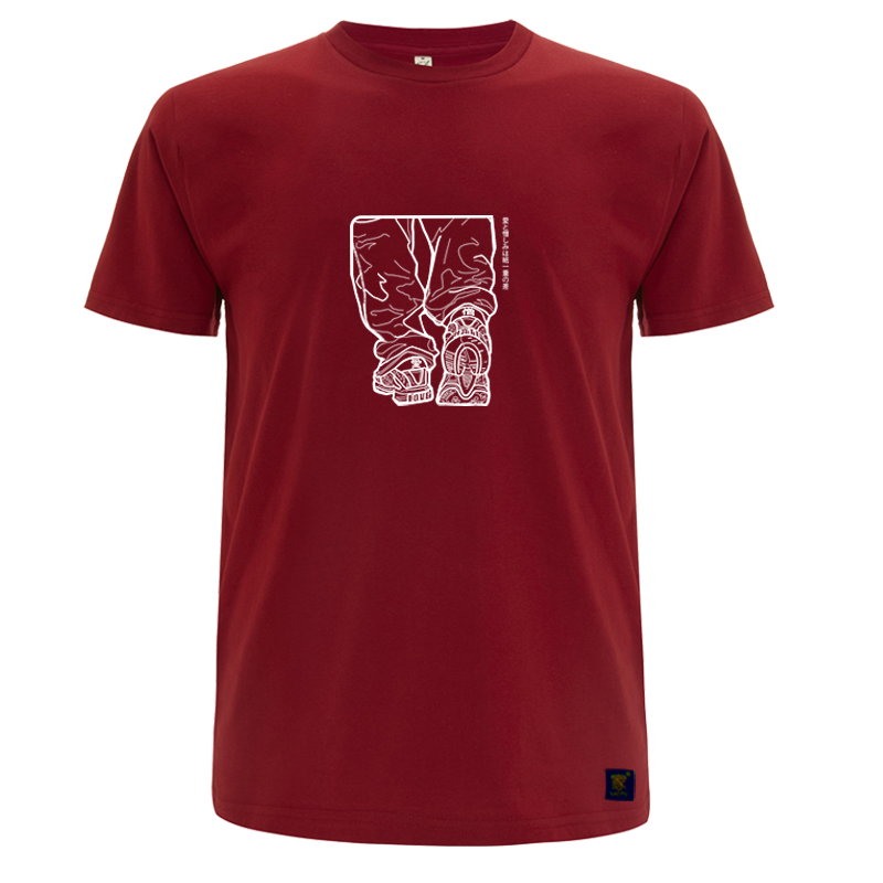 T shirt - Love and Hate - Deep Red