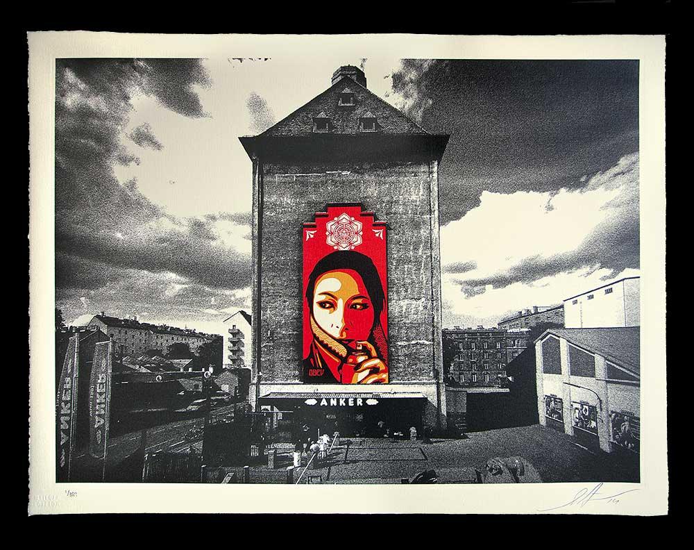 Shepard Fairey, Commanda Mural, 2013