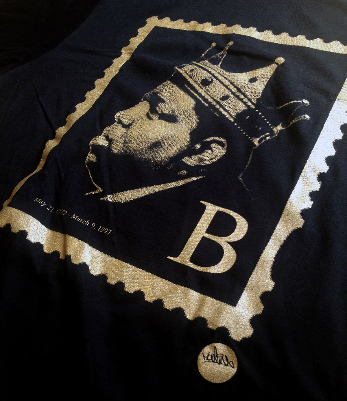 Biggie Smalls B Stamp Hip Hop T Shirt
