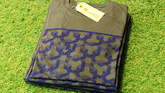 uchi's Hexagon Space Dark grey T shirt