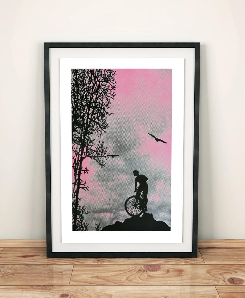 Mountain Top 5 colour screen print