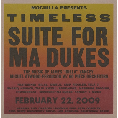 Timeless: Suite For Ma Dukes album cover