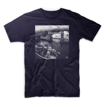 IX T Shirt - Star Wars - Incident at Tower Bridge - Navy Blue T shirt