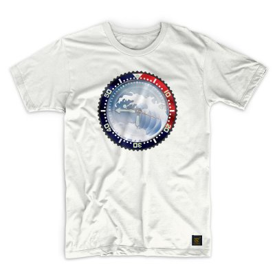 uchi horology series - SEIKO SKX Mod A T shirt - white