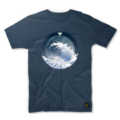 uchi horology series - SEIKO SKX Mod B T shirt - denim blue