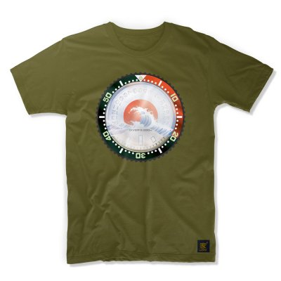 uchi horology series - SEIKO SKX Mod C T shirt - Forest green