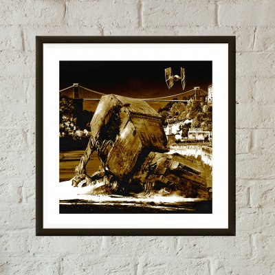 Star Wars v Bristol Episode II - Walker Down Over Avon Gorge art print