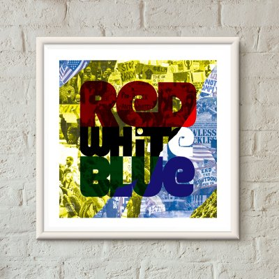 art print - Red White Blue