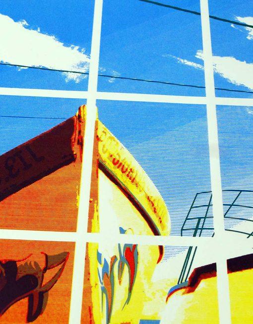 Boat Trip to Mauritius - screen print