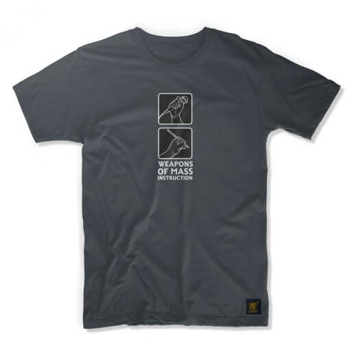 Weapons of Mass Instruction dark grey T shirt