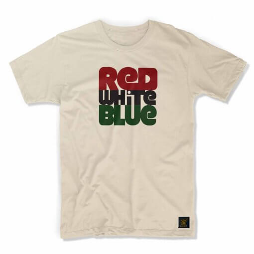 Men's T shirt - Red white blue
