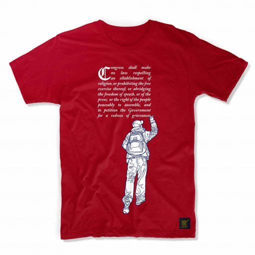First amendment (red) T shirt by uchi clothing