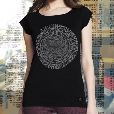 Womens Pi T shirt black