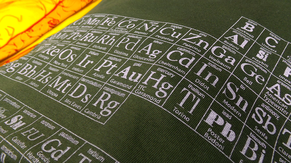uchi's Typographic PeriodicPeriodic Table of Typefaces T shirt