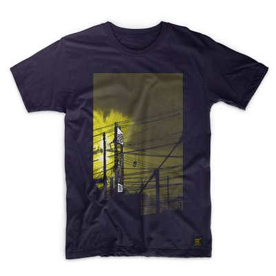 Mens T shirt - uchi sunset - Navy T shirt