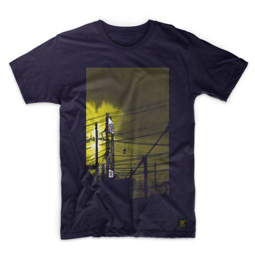 Mens T shirt - uchi sunset - Navy T shirt
