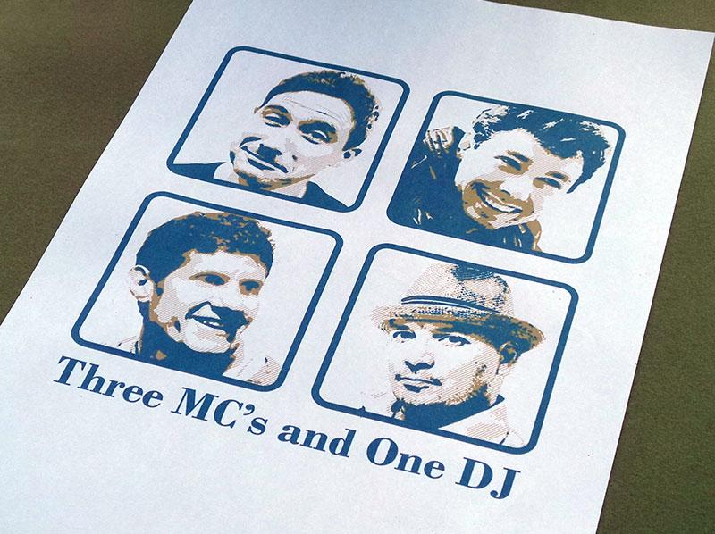 One T shirt, Three MC's and One DJ
