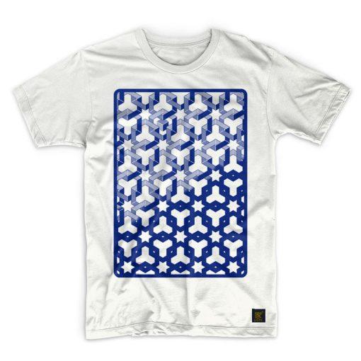 Mens T shirt - Hexagon Space - White T shirt
