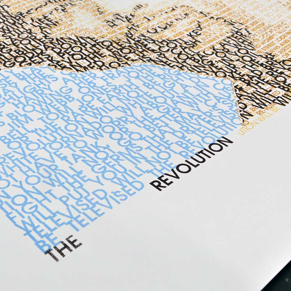 The Revolution Will Be In Avant Garde Gothic – screen print  - detail
