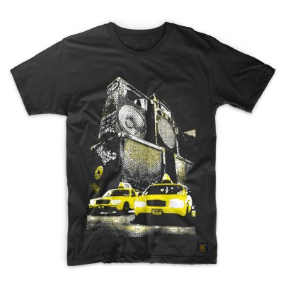 Mens T shirt New York Sound Black