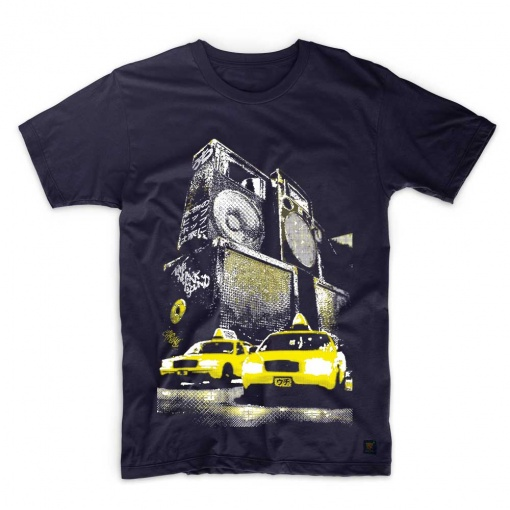 Mens T shirt New York Sound Navy Blue