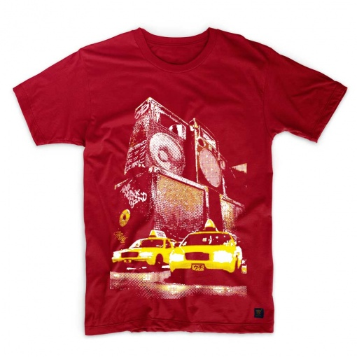 Mens T shirt New York Sound Dark red