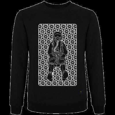 sweatshirt - Press to Release - black