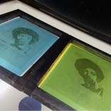 The Revolution Will Not Be Televised Silk screen printing