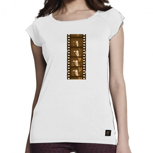 Pass the Mic - women's white bamboo T shirt