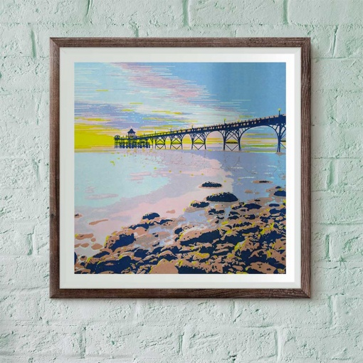 Clevedon Pier screen print