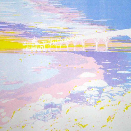 Clevedon Pier screen print - 4th colour