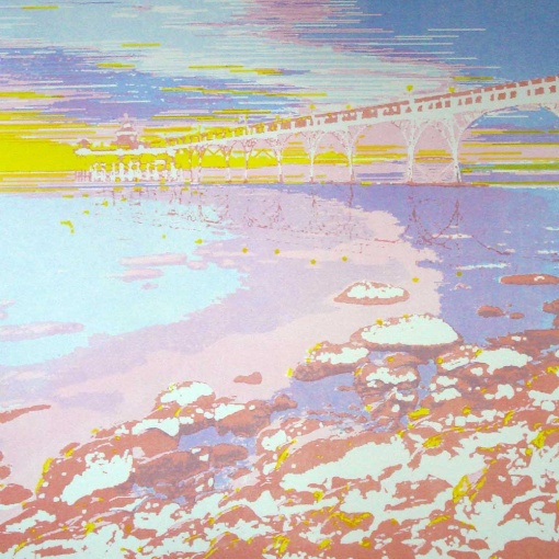 Clevedon Pier screen print - 5th colour