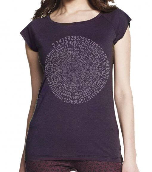 Aubergine Pi women's bamboo T shirt